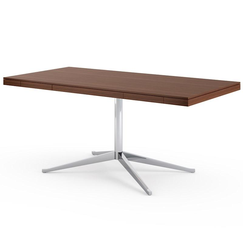 Florence Knoll Desk in Medium Brown Mahogany