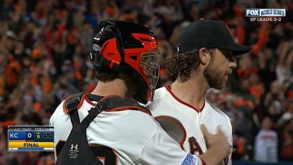 Madison Bumgarner shuts out Royals as Giants move to cusp of championship