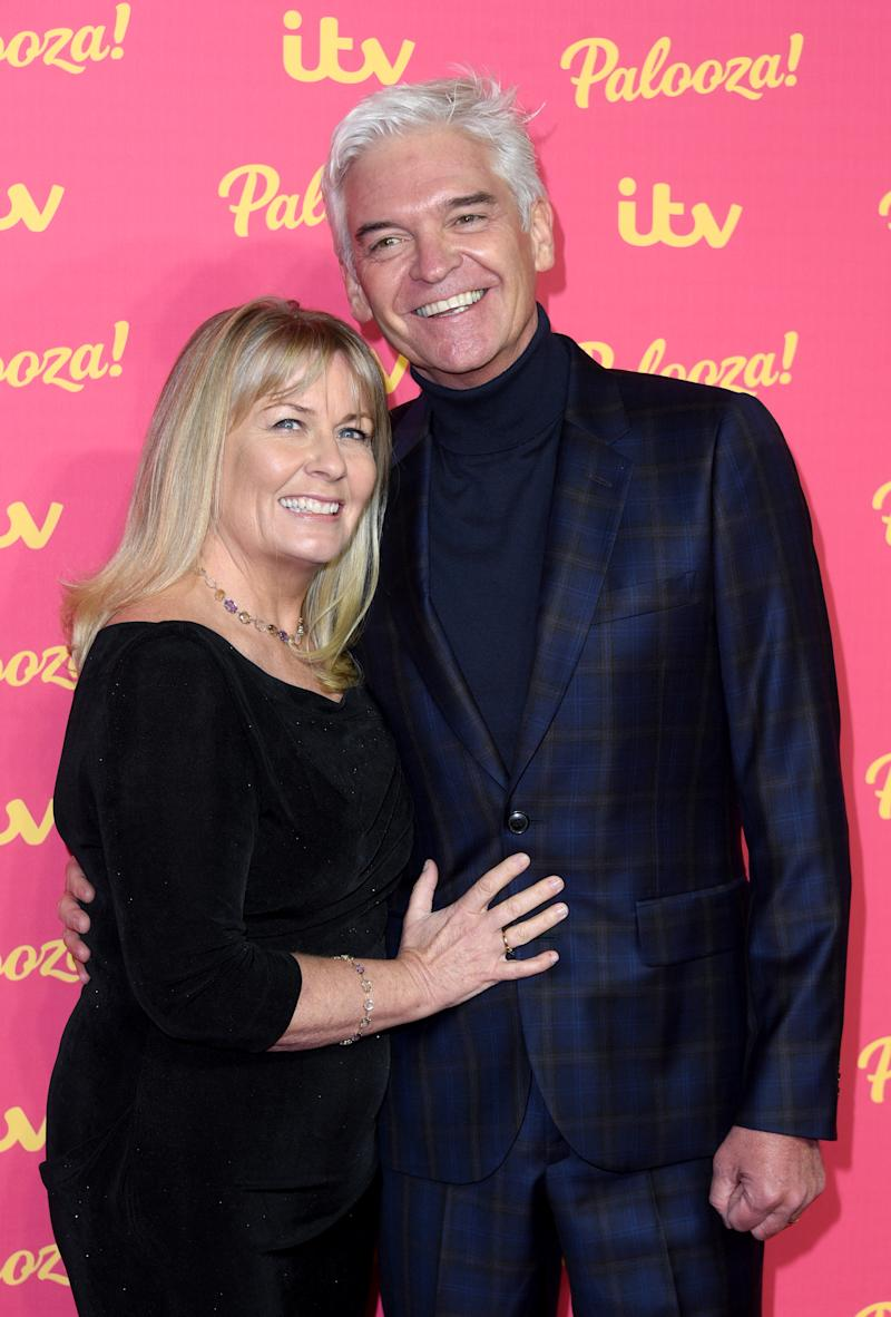 Phillip Schofield and Stephanie Lowe attend the ITV Palooza 2019 at The Royal Festival Hall on November 12, 2019 in London, England. (Photo by Joe Maher/WireImage)