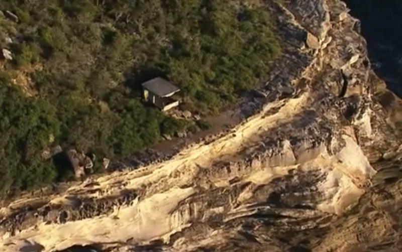 Ms Ferry died at Blue Fish Point on the east side of Manly's North Head. Source: 7News