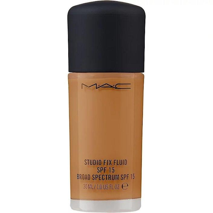 """<h3>MAC Cosmetics</h3> <br><strong>Top Score:</strong> <strong>The Foundation That's In Every Makeup Artist's Kit<br></strong><br><strong>Dates: </strong>Now – July 4<br><strong>Sale:</strong> Take up to 50% off Ulta Beauty markdowns<br><strong>Promo Code:</strong> No code needed<br><br><strong><em>Shop</em></strong><em> <a href=""""https://www.ulta.com/promotion/sale"""" rel=""""nofollow noopener"""" target=""""_blank"""" data-ylk=""""slk:ultabeauty.com"""" class=""""link rapid-noclick-resp"""">ultabeauty.com</a></em><br><br><strong>MAC</strong> Studio Fix Fluid SPF 15 Liquid Foundation, $, available at <a href=""""https://go.skimresources.com/?id=30283X879131&url=https%3A%2F%2Fwww.ulta.com%2Fstudio-fix-fluid-spf-15-foundation%3FproductId%3DxlsImpprod15921238%23locklink"""" rel=""""nofollow noopener"""" target=""""_blank"""" data-ylk=""""slk:Ulta Beauty"""" class=""""link rapid-noclick-resp"""">Ulta Beauty</a><br><br><br><br><br><br>"""