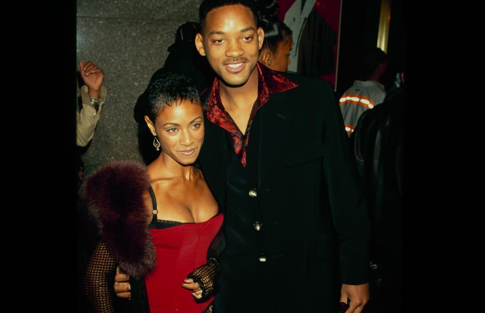 Actress Jada Pinkett and actor Will Smith attend the 14th Annual MTV Video Music Awards on September 4, 1997 at Radio City Music Hall in New York City. (Photo by The LIFE Picture Collection via Getty Images)