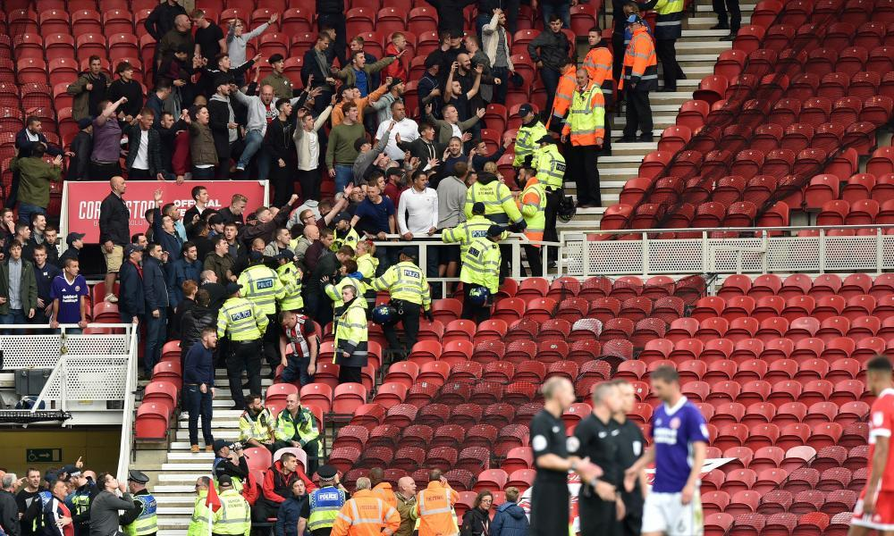 Children as young as 10 injured in violence after Middlesbrough match
