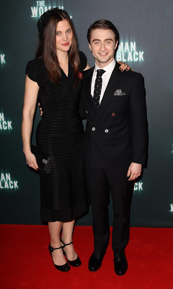 LONDON, ENGLAND - JANUARY 24:  (UK TABLOID NEWSPAPERS OUT) Liz White and Daniel Radcliffe attend the world premiere of The Woman In Black at The Royal Festival Hall on January 24th, 2012 in London, United Kingdom.  (Photo by Dave Hogan/Getty Images)