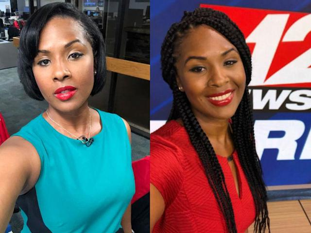 AJ Walker wore her hair straight for on-air appearances until March 2019. (Photo: AJ Walker)