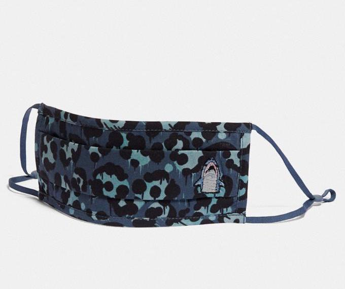 Sharky Face Mask With Wild Beast Print. Image via Coach.