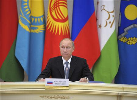 Russian President Putin takes part in a meeting of leaders of the Collective Security Treaty Organisation in Sochi