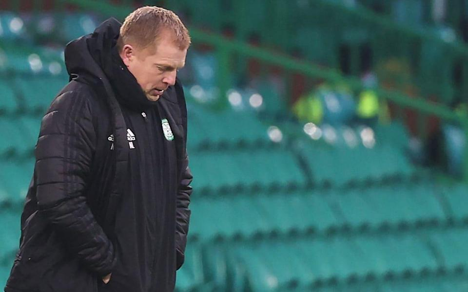 Neil Lennon — Neil Lennon under renewed pressure after Celtic knocked out of Scottish League Cup - PA