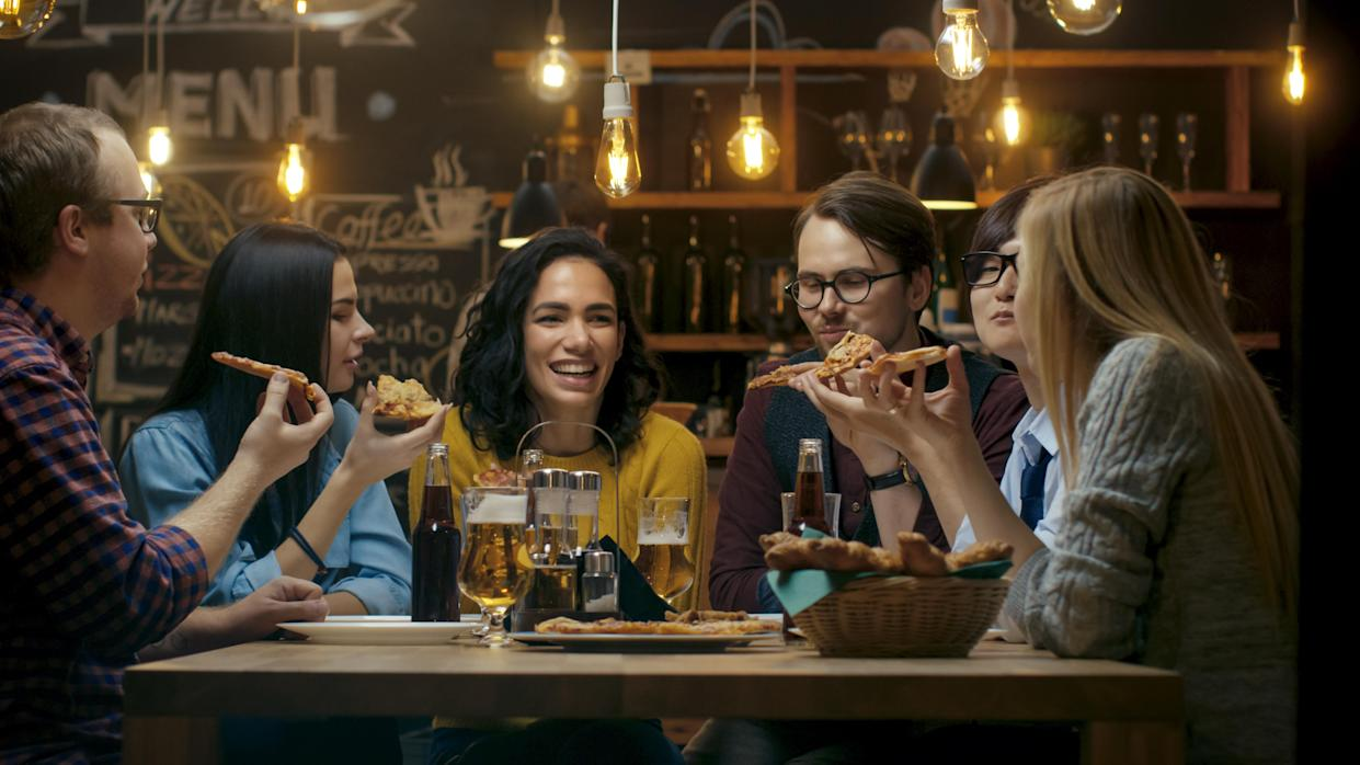 Cutting down on alcohol doesn't have to mean cutting down on socialising (posed by models, Getty)