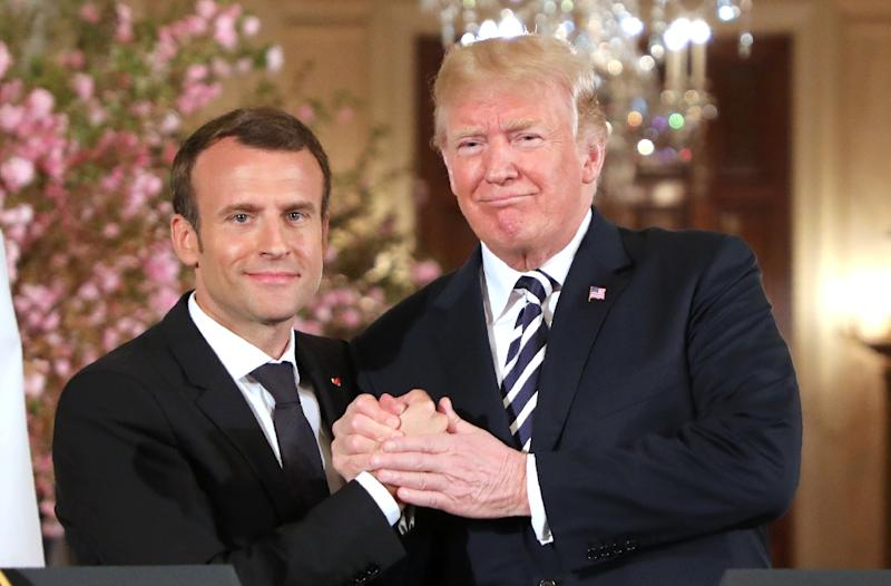 Macron was the first foreign leader to visit the United States since Trump took office