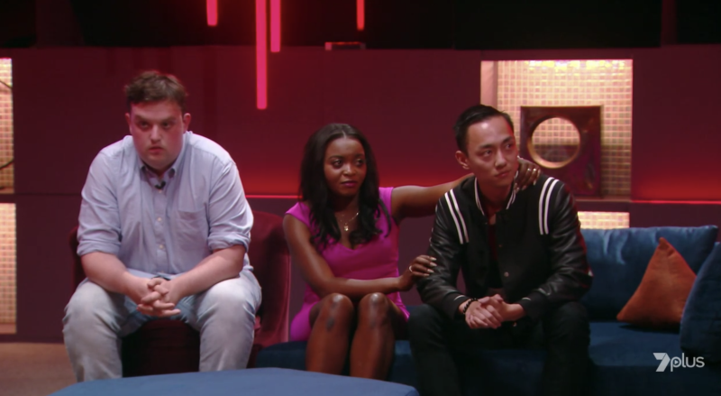 Allan was up against Kieran and Angela, who both only received one vote each, while 12 people voted for Allan. Photo: Seven