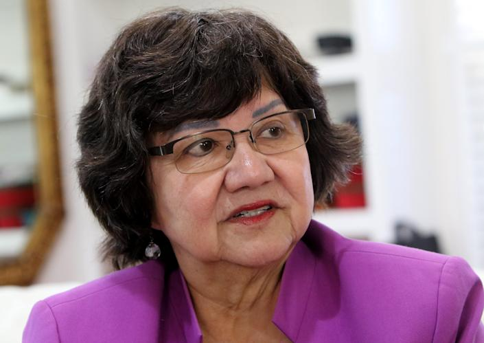 Lupe Valdez, former Sheriff of Dallas County, is interviewed Thursday, Oct. 17, 2019, on mass shootings and gun ownership.