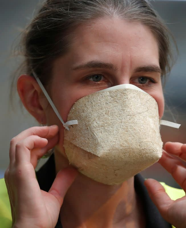 French company Geochanvre makes compostable face masks from hemp