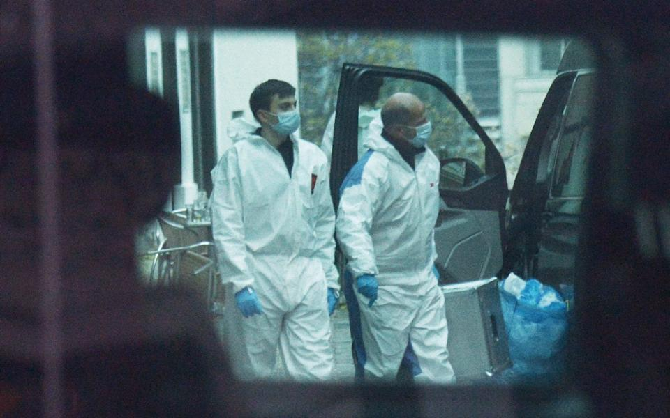 Austrian forensic started police work on Tuesday morning as a huge manhunt was still underway - HERBERT PFARRHOFER/APA/AFP via Getty Images