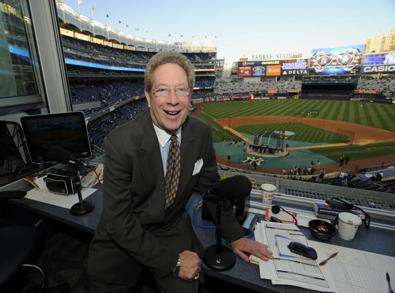 Yankees voice John Sterling to miss first game in 30 years