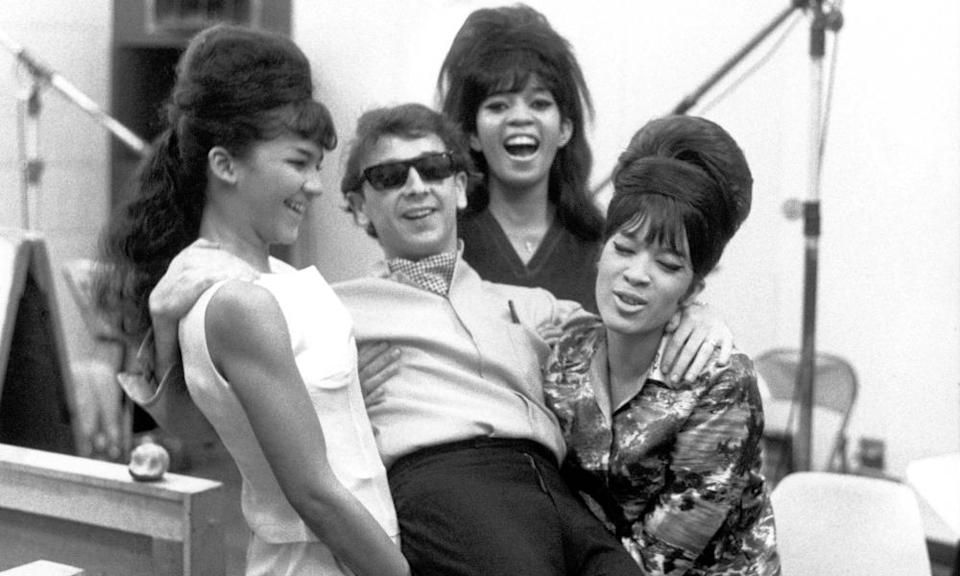 Phil Spector with the Ronettes, with whom he made Be My Baby and Baby I Love You.