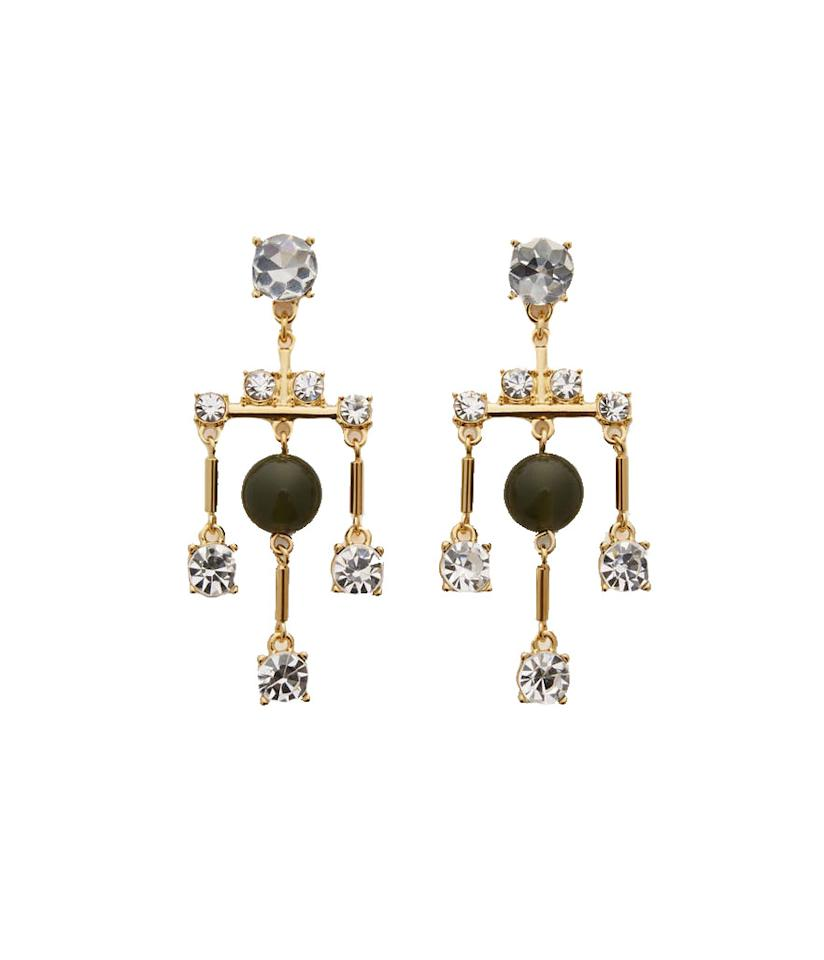 "<p>Crystal Bead Drop Earrings, $30, <a rel=""nofollow"" href=""https://www.anntaylor.com/crystal-bead-drop-earrings/422555?skuId=22545237&defaultColor=2042&colorExplode=false&catid=cata000021"">anntaylor.com</a> </p>"
