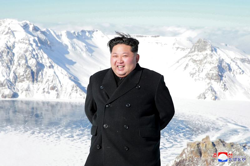 North Korea media claimed Kim Jong-un controls the weather (Picture: AP)