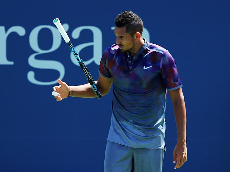 Kyrgios crashed out in the first round of the US Open (Getty)