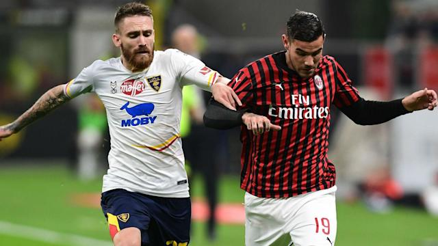 Majer Theo Hernandez Milan Lecce Serie A
