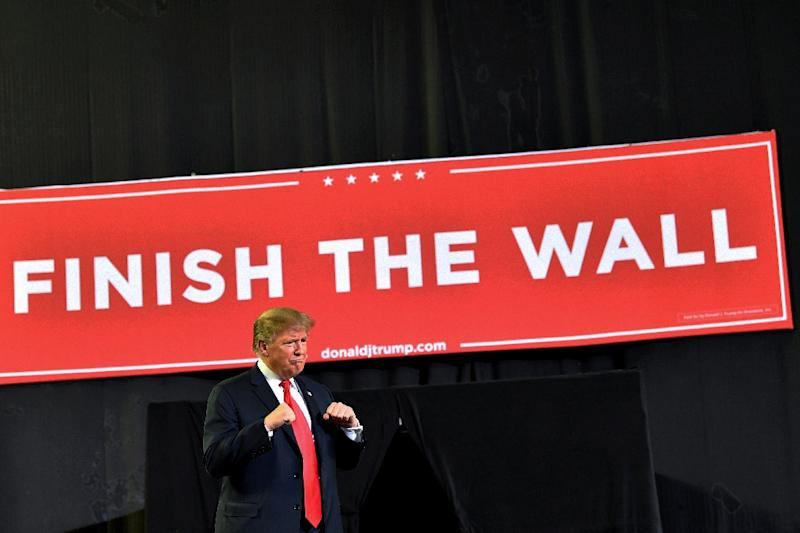 Even as US President Donald Trump stirred up border controversy at a raucous rally in the frontier city of El Paso, lawmakers said a provisional deal had been reached (AFP Photo/Nicholas Kamm)