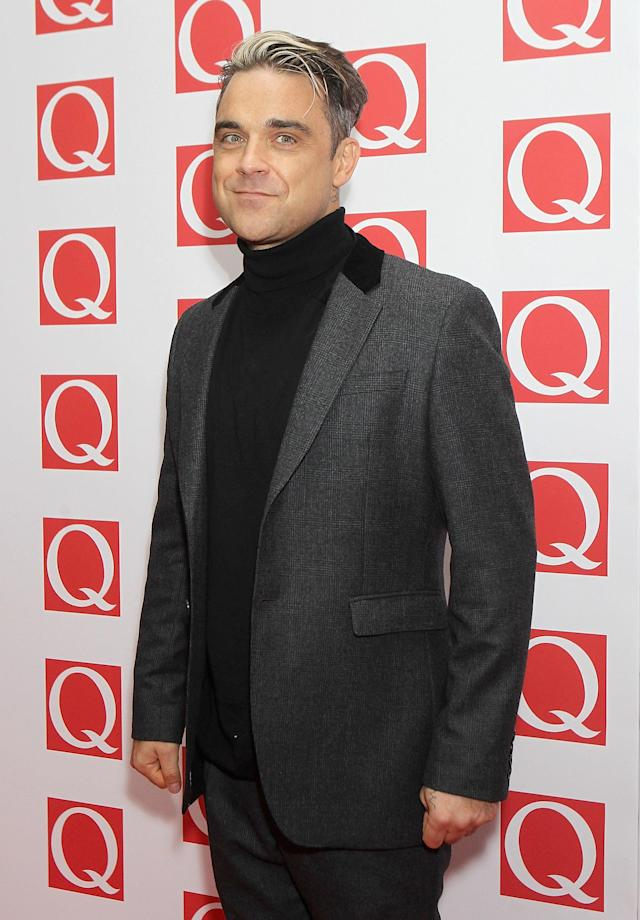 Robbie Williams attending the Q Awards at the Grosvenor House Hotel in London.