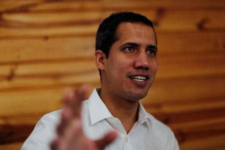 Venezuelan opposition leader Juan Guaido, who many nations have recognized as the country's rightful interim ruler, speaks during an interview with Reuters in Caracas, Venezuela March 22, 2019. REUTERS/Carlos Jasso