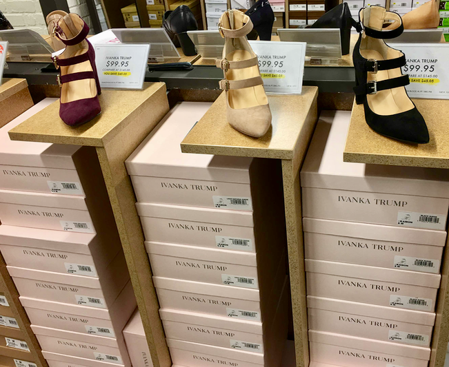 Ivanka Trump heels at DSW in Union Square, NYC (Melody Hahm)