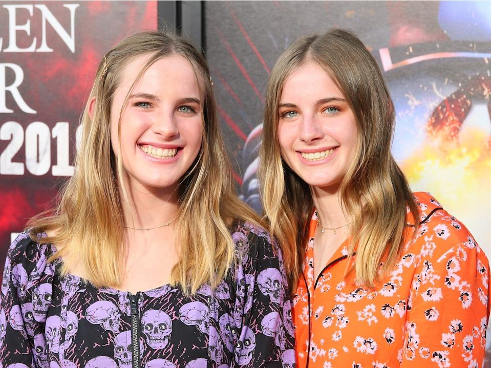 "Cali and Noelle Sheldon at the premiere of horror film, ""Us."""