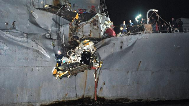 USS Porter Collides With Oil Tanker in Persian Gulf