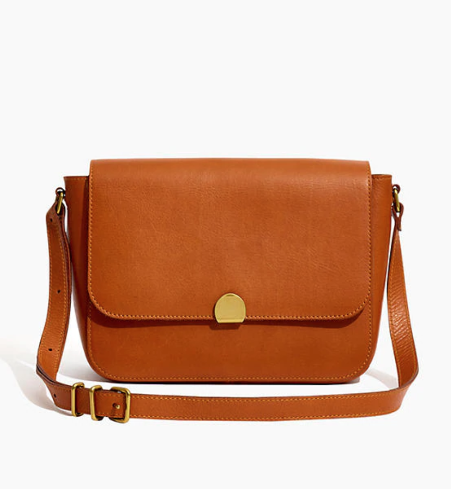 """<h3><a href=""""https://www.madewell.com/the-abroad-shoulder-bag-L4913.html"""" rel=""""nofollow noopener"""" target=""""_blank"""" data-ylk=""""slk:Madewell The Abroad Should Bag"""" class=""""link rapid-noclick-resp"""">Madewell The Abroad Should Bag</a></h3><br>This vintage-inspired messenger bag from Madewell can be personalized with up to 10 characters etched into its high-quality leather. You can even pick the font and color that align best with mom's personal style. <br><br><strong>Madewell</strong> The Abroad Shoulder Bag, $, available at <a href=""""https://go.skimresources.com/?id=30283X879131&url=https%3A%2F%2Fwww.madewell.com%2Fthe-abroad-shoulder-bag-L4913.html"""" rel=""""nofollow noopener"""" target=""""_blank"""" data-ylk=""""slk:Madewell"""" class=""""link rapid-noclick-resp"""">Madewell</a>"""