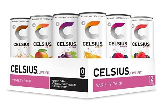 <p>If you need a boost of energy before a workout or a midday pick-me-up, one can of <span>Celsius Fitness Drink Variety Pack</span> ($39 for 12) all you need. It has zero sugar and the flavors taste so delicious it's like eating a snow cone.</p>