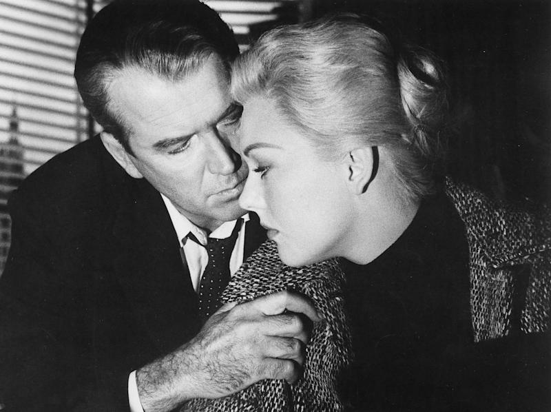 James Stewart and Kim Novak in 'Vertigo'Rex