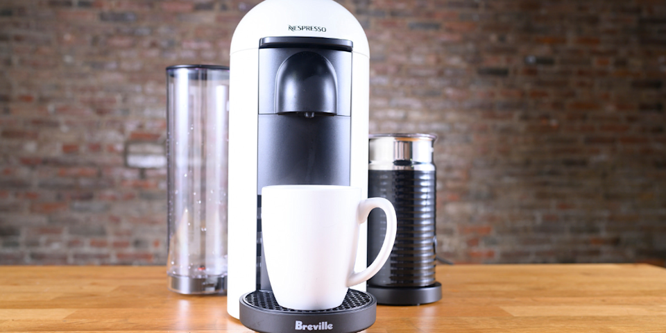 The Nespresso Breville is at an extra-low price for Bed Bath & Beyond's rival Prime Day sale.