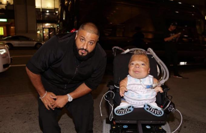"""DJ Khaled Shows Fan With Disability Major Love, Gives Him """"We the Best"""" Chain"""