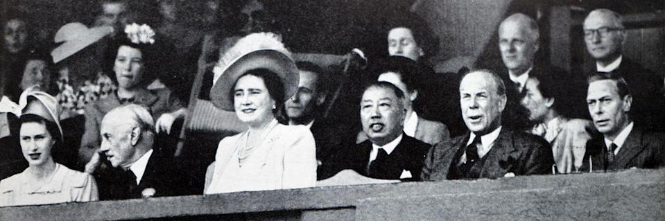 <p>A scene of the Royal Box in 1950. </p>