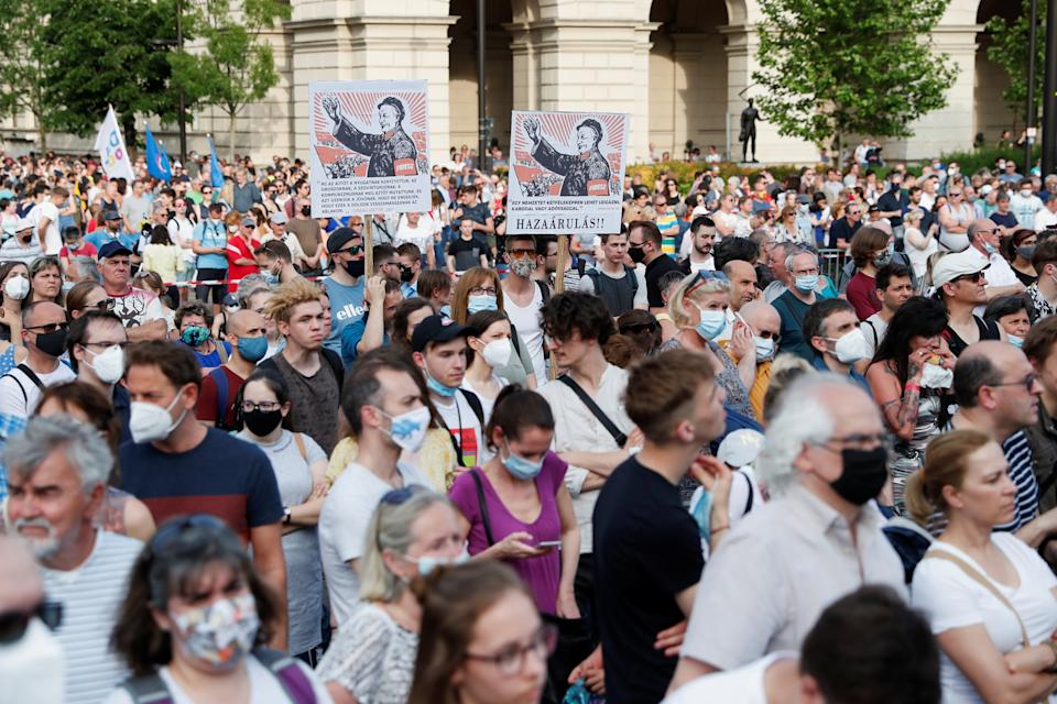 Thousands turned out to oppose the Chinese project in Budapest.