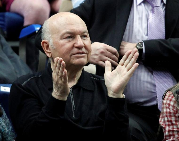 FILE PHOTO: Former Moscow Mayor Yuri Luzhkov. who has died aged 83, is seen applauding at a tennis match in Moscow in 2011