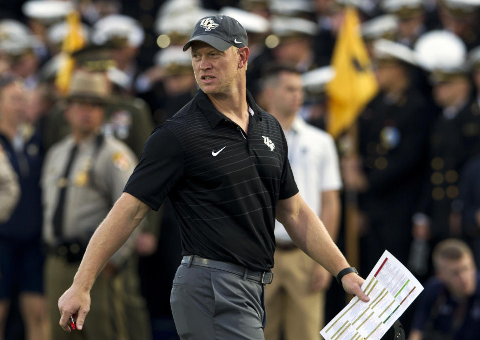 Scott Frost's Central Florida team is undefeated at 7-0 and appear to be rolling toward a New Years Six bowl bid. (AP)