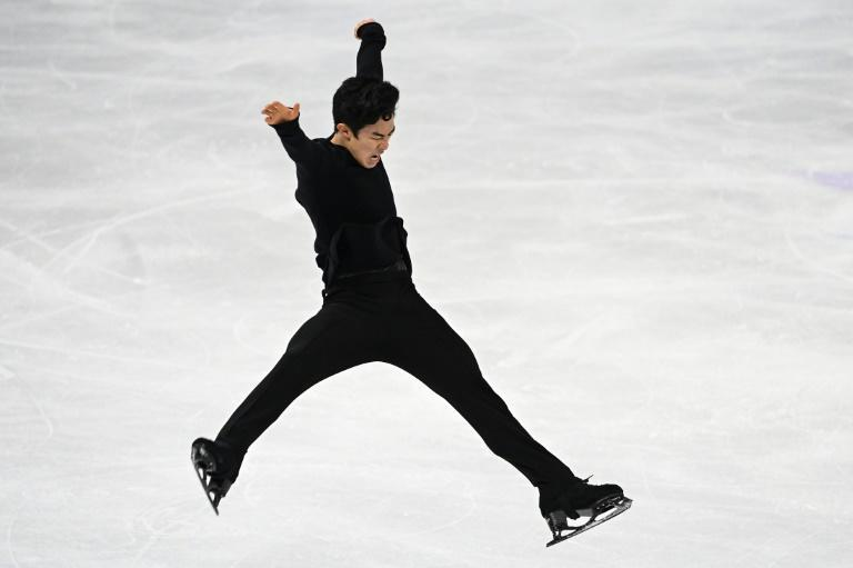 Ice cool: Nathan Chen kept his nerve to land five quads and win a third world title