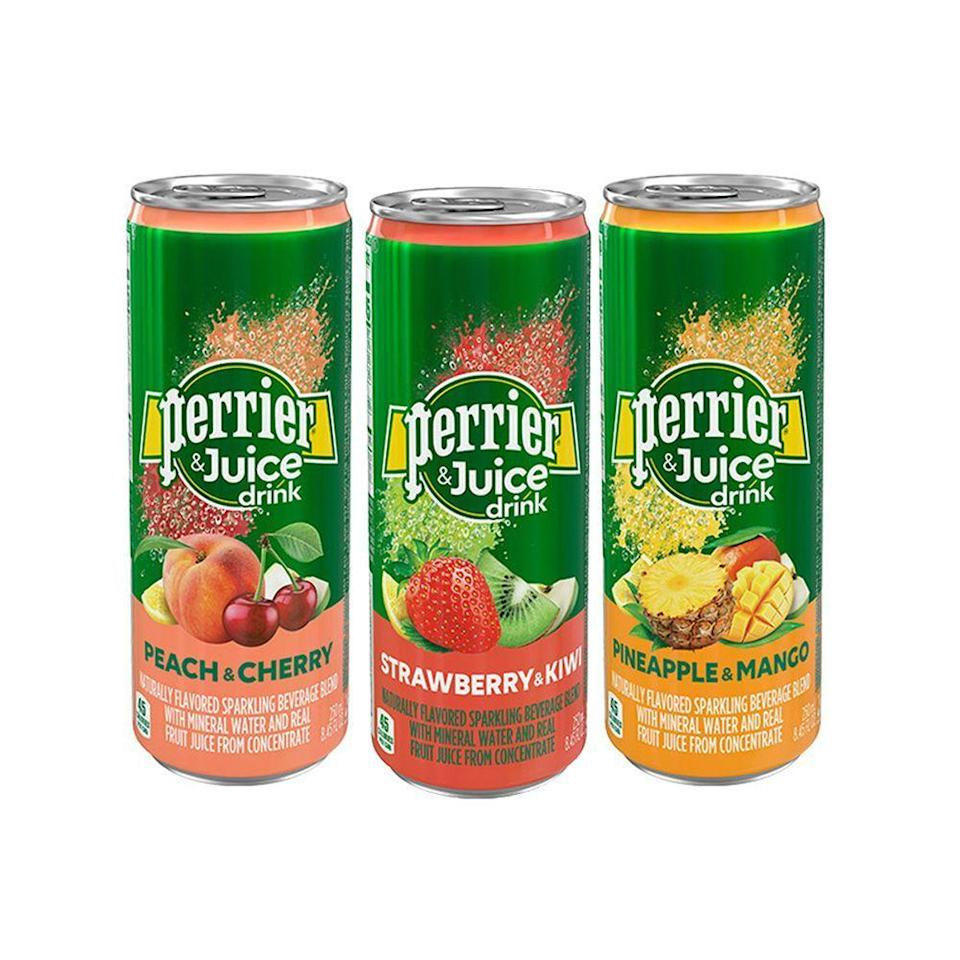 """<p><strong>Perrier</strong></p><p>amazon.com</p><p><strong>$24.99</strong></p><p><a href=""""http://www.amazon.com/dp/B07LF5115N/?tag=syn-yahoo-20&ascsubtag=%5Bartid%7C2089.g.28787971%5Bsrc%7Cyahoo-us"""" rel=""""nofollow noopener"""" target=""""_blank"""" data-ylk=""""slk:Shop Now"""" class=""""link rapid-noclick-resp"""">Shop Now</a></p><p>We know it can be a pain to buy (and schlep home) both seltzer water <em>and</em> fruit juice mixers. Perrier thought ahead with these genius Perrier & Juice flavored sparkling beverages in fun flavor combos like Peach & Cherry, Strawberry-Kiwi, and Pineapple-Mango. No mixer required.</p>"""