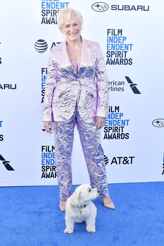 Glenn Close hit the red carpet with her dog Pip on Saturday afternoon for the Film Independent Spirit Awards in Santa Monica, Calif. Started in 1984, the event is known for being more laid back than other awards shows, which is why <em>The Wife</em> star could get away with bringing her pooch! Click through to see who else headed to the beach to celebrate the year's best indie movies.