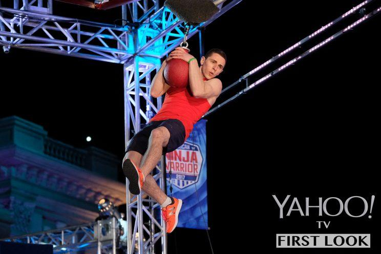 Josh Levin in American Ninja Warrior (Photo: Tyler Golden/NBC)