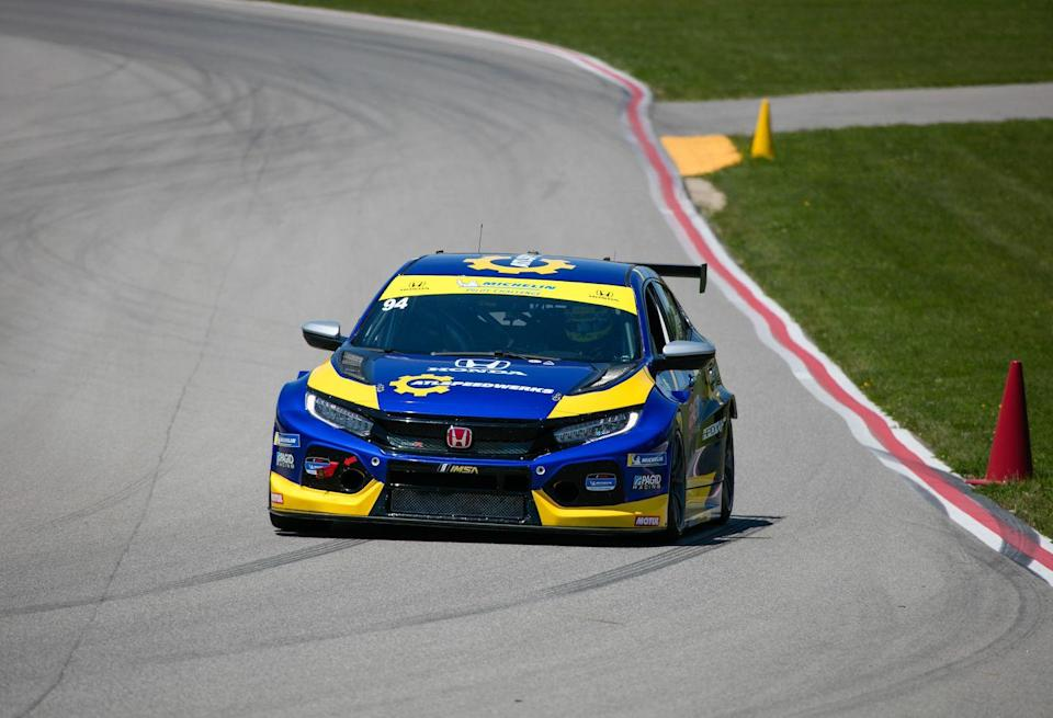 <p>The Honda Civic Type R TCR racer is built by Italian firm J.A.S. Motorsports. </p>