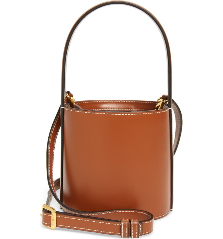 "<br><br><strong>Staud</strong> Mini Bissett Leather Bucket Bag, $, available at <a href=""https://go.skimresources.com/?id=30283X879131&url=https%3A%2F%2Fwww.nordstrom.com%2Fs%2Fstaud-mini-bissett-leather-bucket-bag%2F5461404"" rel=""nofollow noopener"" target=""_blank"" data-ylk=""slk:Nordstrom"" class=""link rapid-noclick-resp"">Nordstrom</a>"