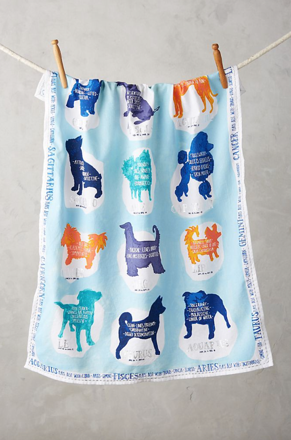 Zodiac Companion Tea Towel (Photo via Anthropologie)