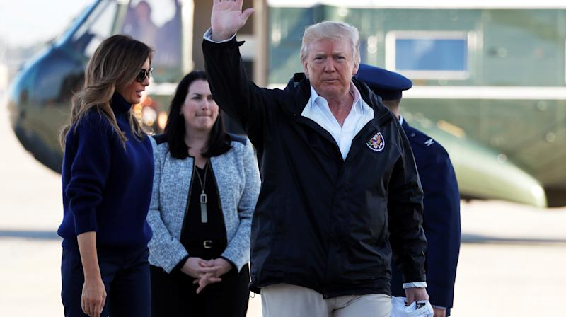 President Donald Trump landed on Puerto Rico Tuesday, almost two weeks after Hurricane Maria pummelled the island and left many of its 3.4 million residents without power, water or food.