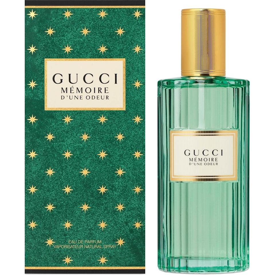 """<p>Despite the vintage-inspired bottle, and less-vintage Harry Styles as the face of the campaign, the brand coins Gucci's Memoire D'Une Odeur universal scent is not assigned to a gender or a time. The familiar fragrance profile instead spotlights chamomile and jasmine with a mix of musk and airiness that evoke an ethereal feeling that admittedly sends your mind on a trip down memory lane.</p> <p><strong>$120 for 3.4 ounces</strong> (<a href=""""https://www.sephora.com/product/memoire-eau-de-parfum-for-her-P448480"""" rel=""""nofollow"""">Shop Here</a>)</p>"""