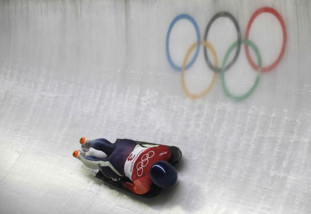 Skeleton - Pyeongchang 2018 Winter Olympics – Women's Finals - Olympic Sliding Center - Pyeongchang, South Korea – February 17, 2018 - Takako Oguchi of Japan in action. REUTERS/Arnd Wiegmann