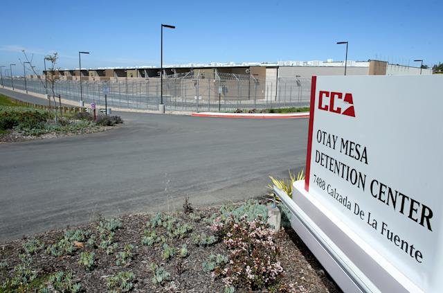The U.S. Customs and Immigration Otay Mesa Detention Facility is shown outside San Diego, California.